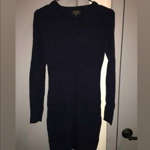 Navy blue Rag and Bone girls 100% cashmere dress